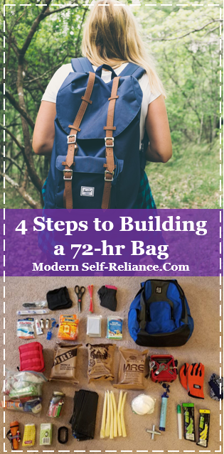 Planning a building a backpack for everything you need for 72-hours.