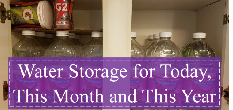 Water Storage for Today, This Month and This Year