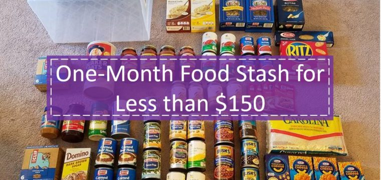One-Month Food Stash for Less than $150