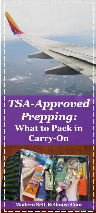 What to pack in your carry-on that is TSA-approved prepping?