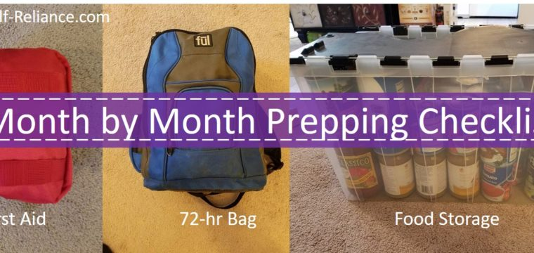 Month by Month Checklist for Prepping
