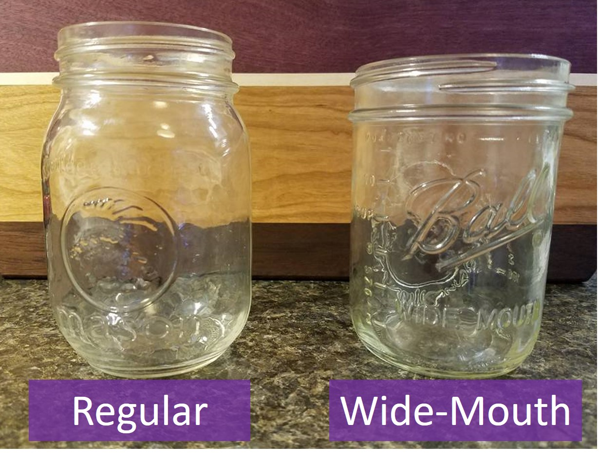 wide mouth vs regular mason jars