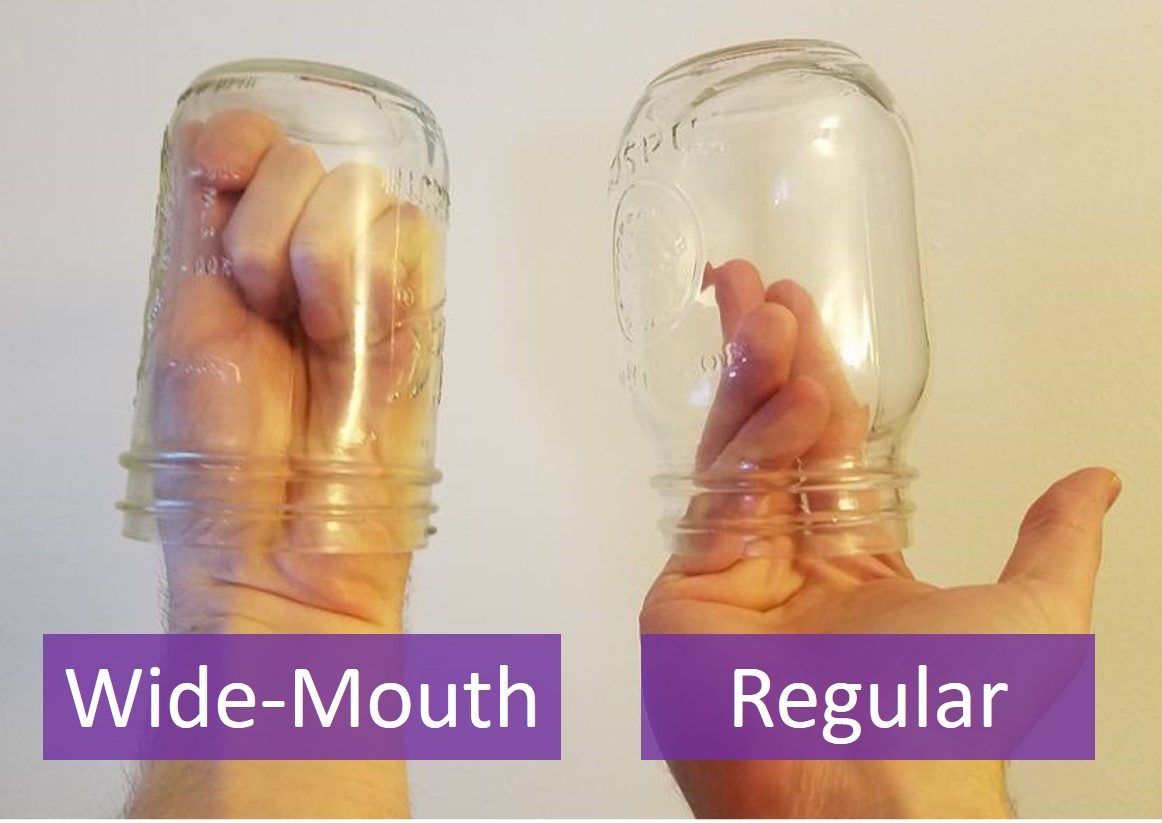 wide mouth vs regular jar