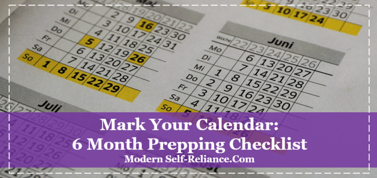 6-Month Preparedness Supplies Rotation Checklist