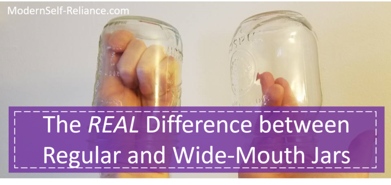 The Real Difference Between Regular and Wide-Mouth Canning Jars