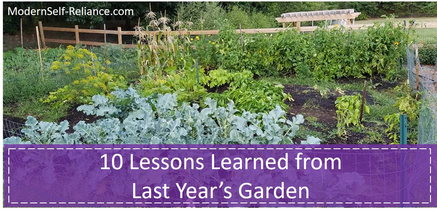 lessons learned from garden