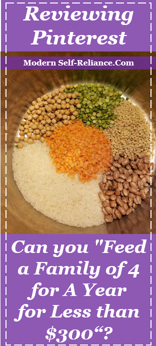 Feeding a family on rice and beans for one year.