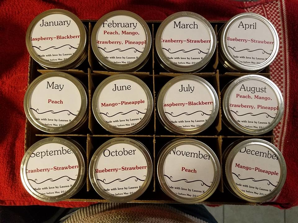 wedding present jam jars