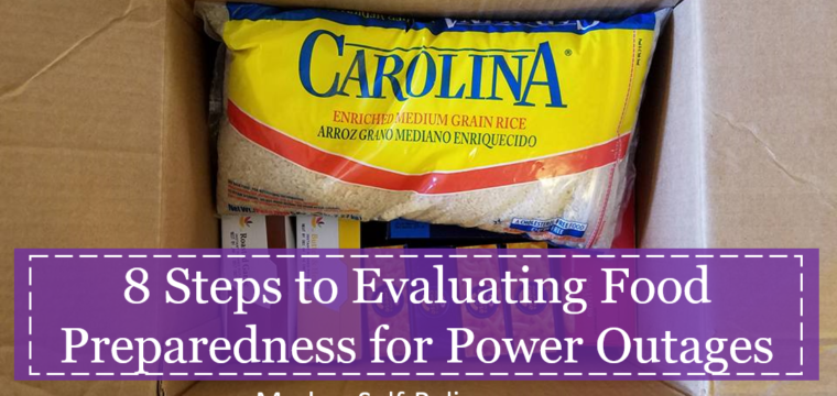 8 Steps to Evaluating your Food Preparedness for Power Outages