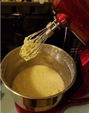 Stand mixing butter