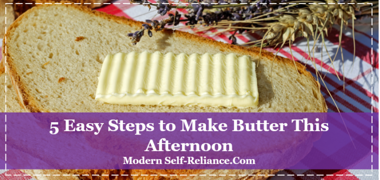 5 Easy Steps to Make Butter This Afternoon