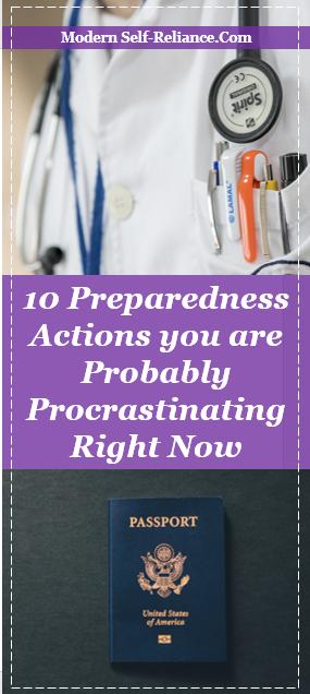 prepping procrastination