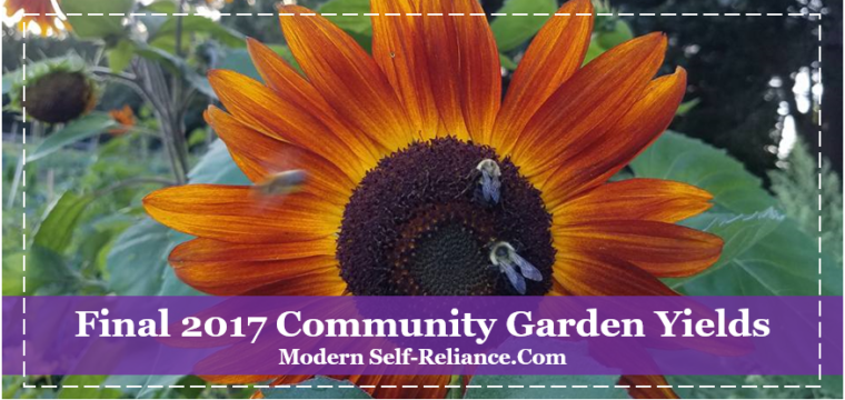 Final 2017 Community Garden Yields