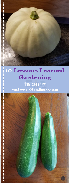 10 Lessons Learned Gardening in 2017