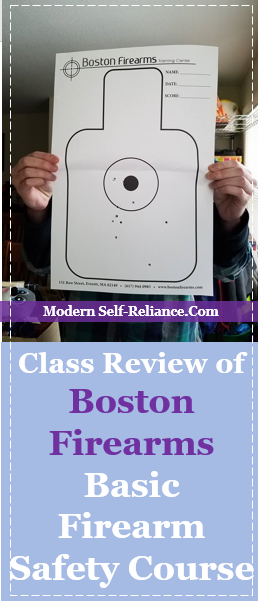 Class Review of Boston Firearms Basic Firearm Safety Course