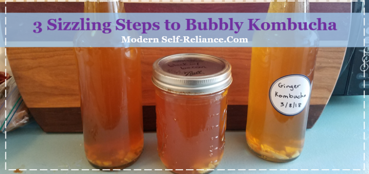 3 Sizzling Steps to Bubbly Kombucha