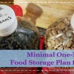 Minimal One-Month Food Storage Plan for $77