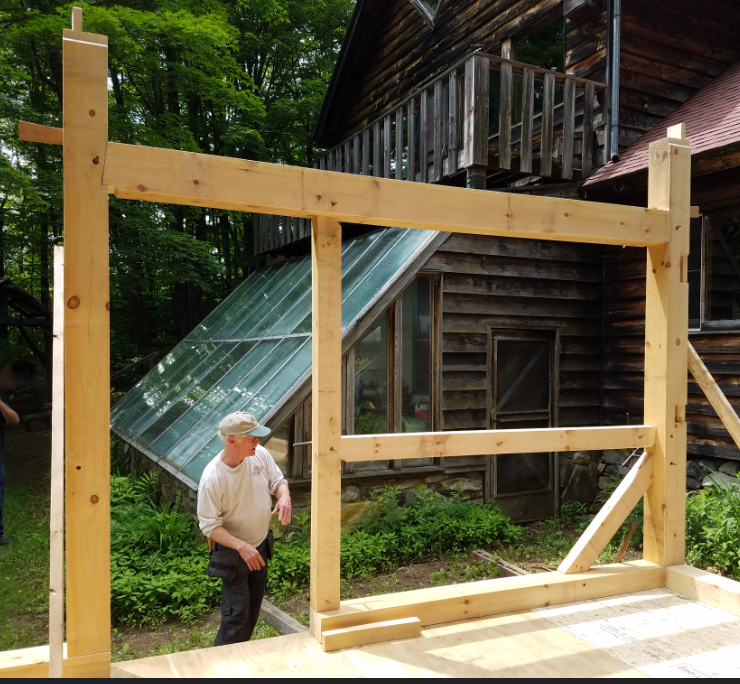 Will and a section of the timber frame