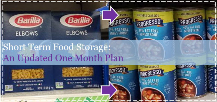Short Term Food Storage: An Updated One Month Plan
